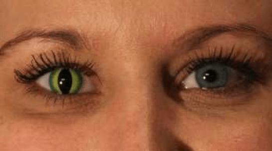 grønne kontaktlinser